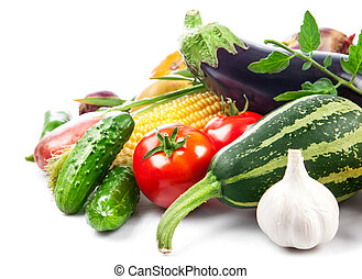 Fresh vegetable with green leaves
