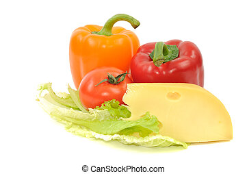 Fresh vegetables and cheese