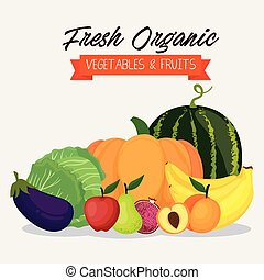 fresh vegetables and fruits healthy food