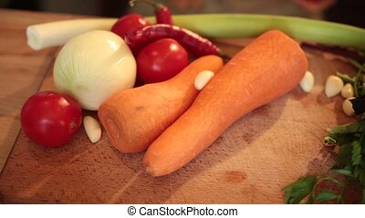 Fresh vegetables and igredients for cooking