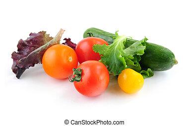 Fresh vegetables - Assorted fresh vegetables isolated on ...