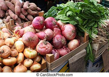 Fresh Vegetables At A Fruit Market