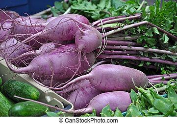 Fresh vegetables at market