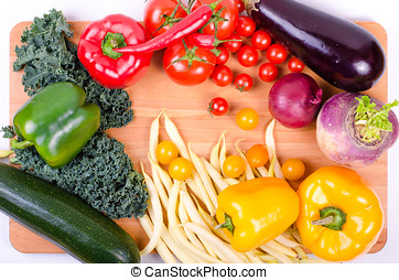 Fresh vegetables, autumn background. Healthy eating background