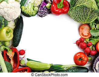 Fresh vegetables, banner for your text