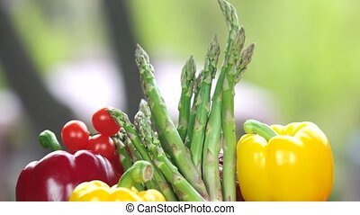 Fresh vegetables close up.