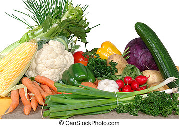 Fresh vegetables - Diversity display of fresh healthy...