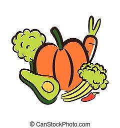 fresh vegetables flat style icon