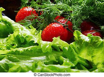 Fresh vegetables - Fresh and wet vegetables