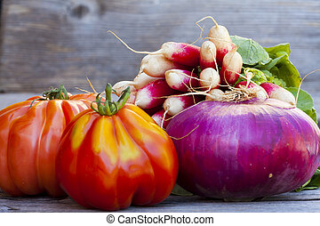 Fresh vegetables from the Weekly Market