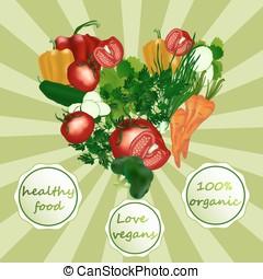 Fresh vegetables. Healthy Food. Sou