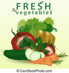 Fresh vegetables. Healthy Food.
