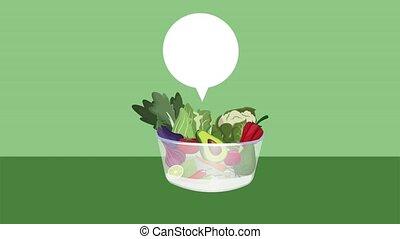 Fresh vegetables in bowl HD animation - Fresh vegetables in...