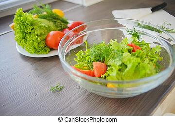 Fresh vegetables in the kitchen