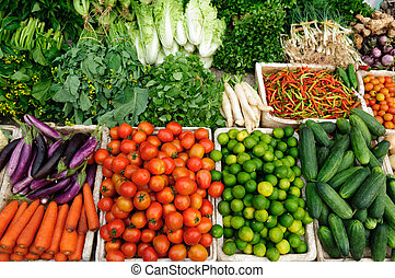 Fresh vegetables market