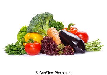 vegetables - fresh vegetables on the white background