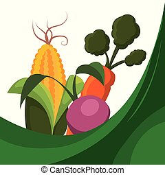 fresh vegetables raw food vector illustration eps 10