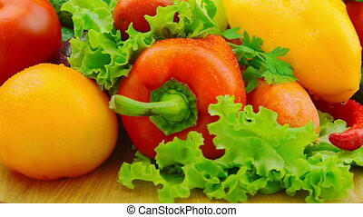 Fresh Vegetables Rotate
