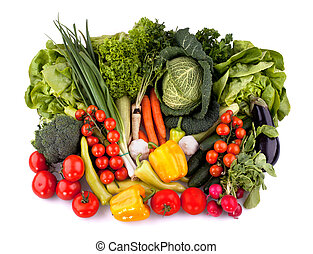 Fresh vegetables top view