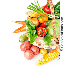 fresh vegetables with green leaves