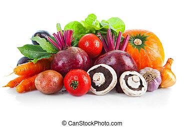 Fresh vegetables with leaf lettuce