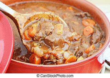Fresh Venison Stew - Freshly prepared venison stew with ...
