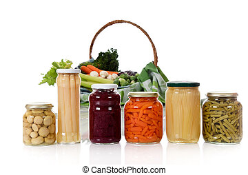 Fresh versus canned vegetables - Canned vegetables in jars...