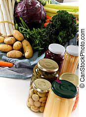 Fresh versus canned vegetables