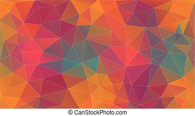 Fresh vintage color triangle background