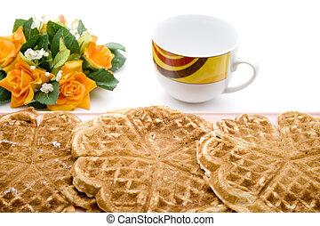 Fresh Waffle for Coffee