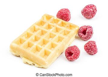 Fresh Waffle isolated on white