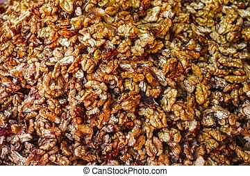 Fresh walnuts without shell