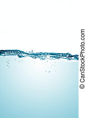 Fresh water - Fresh blue water background with bubbles and ...