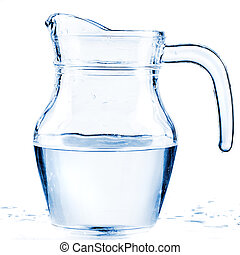 fresh water in a glass pitcher