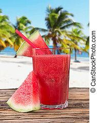 Fresh water melon juice, healthy drink. - Fresh water melon...