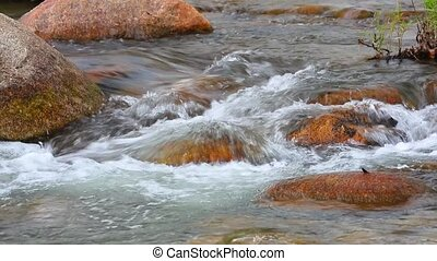 Fresh Water Mountain Stream White Water HD - Fresh water...