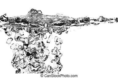 Fresh Water Splash Over White