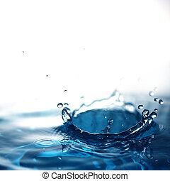 a blue fresh water with bubbles background