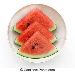 Fresh watermelon in bowl