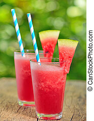 fresh watermelon juice in summer time