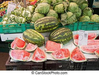Fresh watermelons