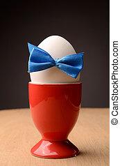 Fresh white egg