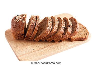 Fresh whole grain bread close up