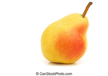 Fresh Williams pear on a white background
