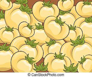 Fresh Yellow tomatoes pattern