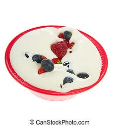 Fresh yogurt with fruit