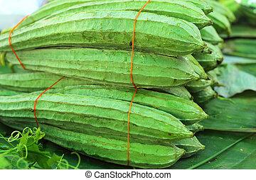 fresh zucchini in the market