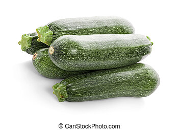 Fresh zucchini isolated on white (cucumber)