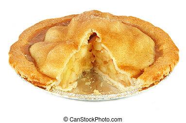 freshly, assado, torta maçã