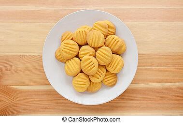 Freshly-baked cookies